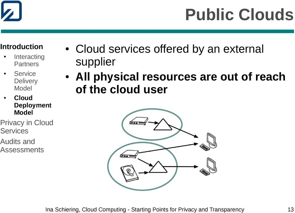 physical resources are out of reach of the cloud user Ina