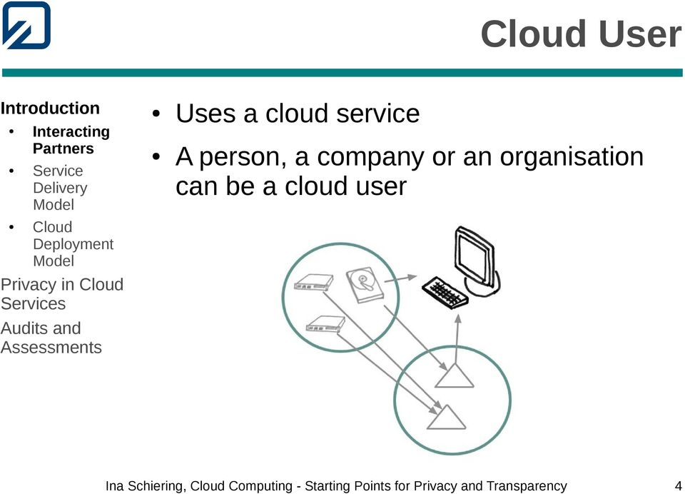 an organisation can be a cloud user Ina Schiering,