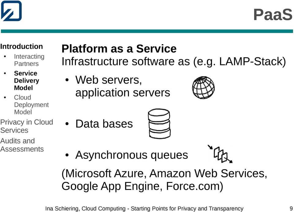 LAMP-Stack) Web servers, application servers Data bases Asynchronous queues