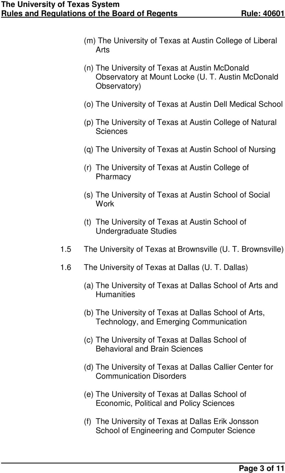 xas at Austin College of Liberal Arts (n) Th