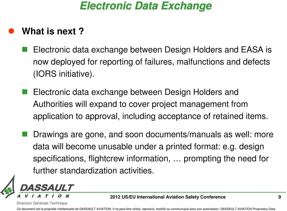 Electronic data exchange between Design Holders and Authorities will expand to cover project management from application to approval, including