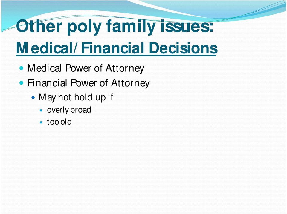 Power of Attorney Financial Power of