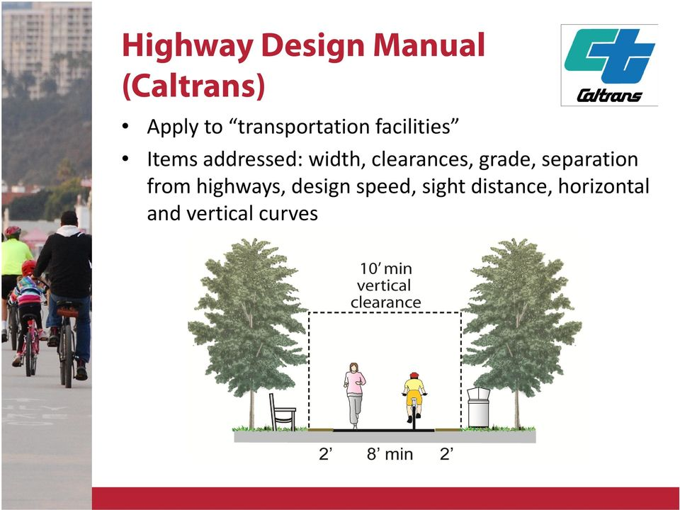 clearances, grade, separation from highways,