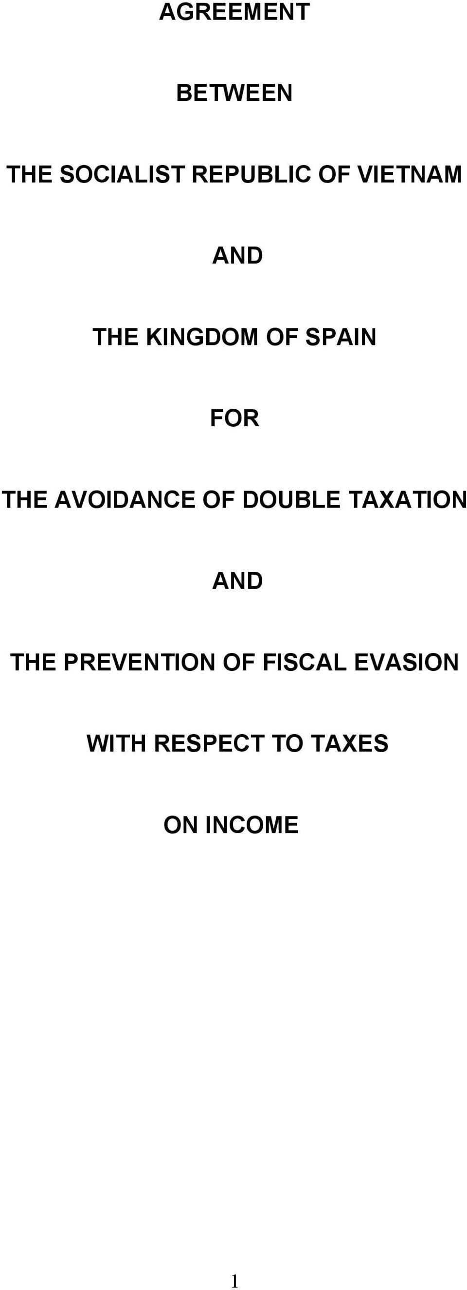 AVOIDANCE OF DOUBLE TAXATION AND THE