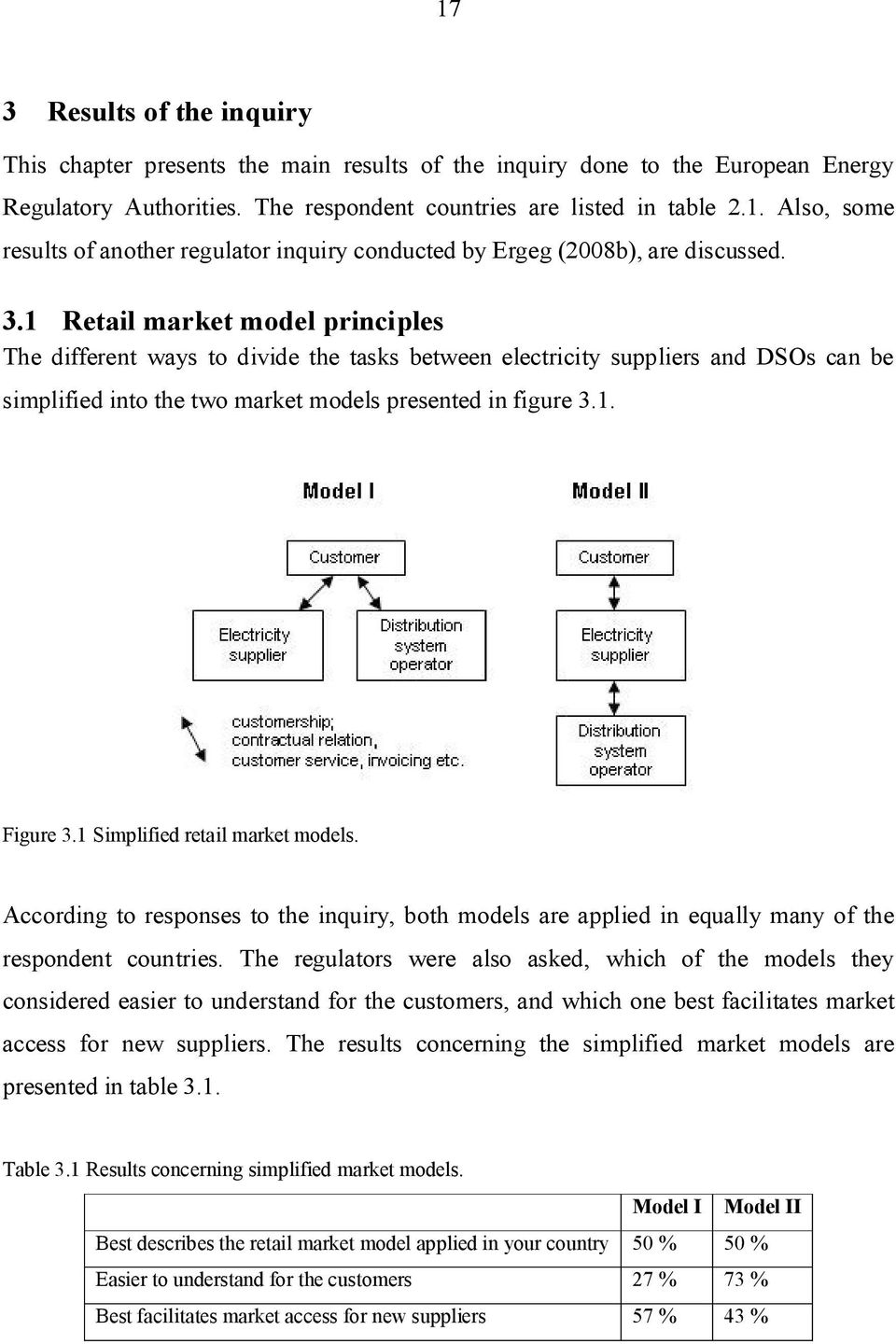 1 Simplified retail market models. According to responses to the inquiry, both models are applied in equally many of the respondent countries.