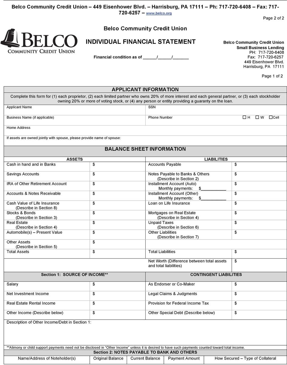 Harrisburg, PA 17111 Page 1 of 2 APPLICANT INFORMATION Complete this form for (1) each proprietor, (2) each limited partner who owns 20% of more interest and each general partner, or (3) each