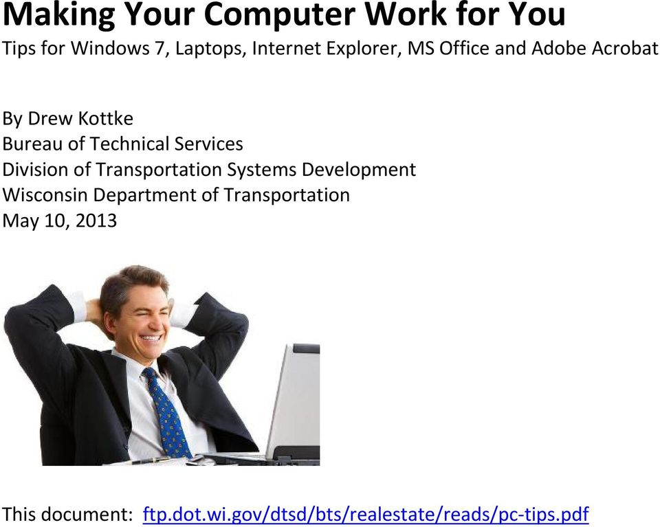 Services Division of Transportation Systems Development Wisconsin Department of