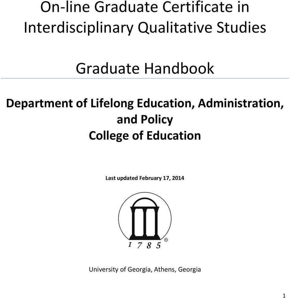Education, Administration, and Policy College of Education
