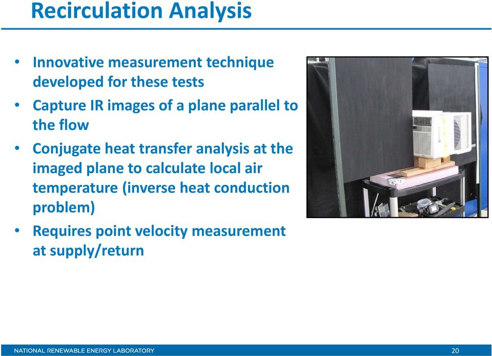 transfer analysis at the imaged plane to calculate local air temperature