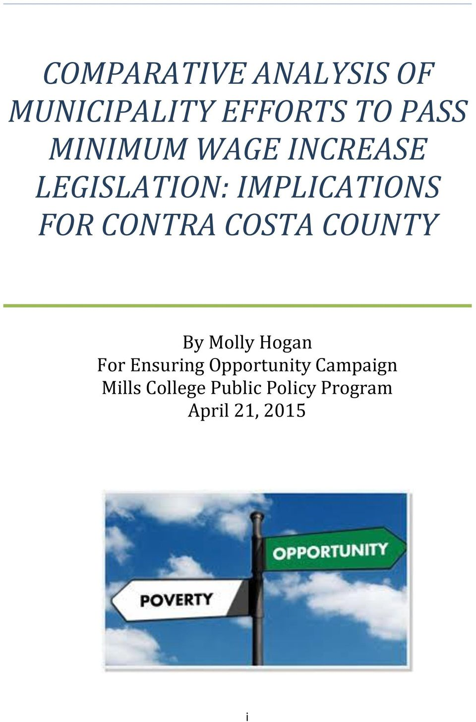 CONTRA COSTA COUNTY By Molly Hogan For Ensuring