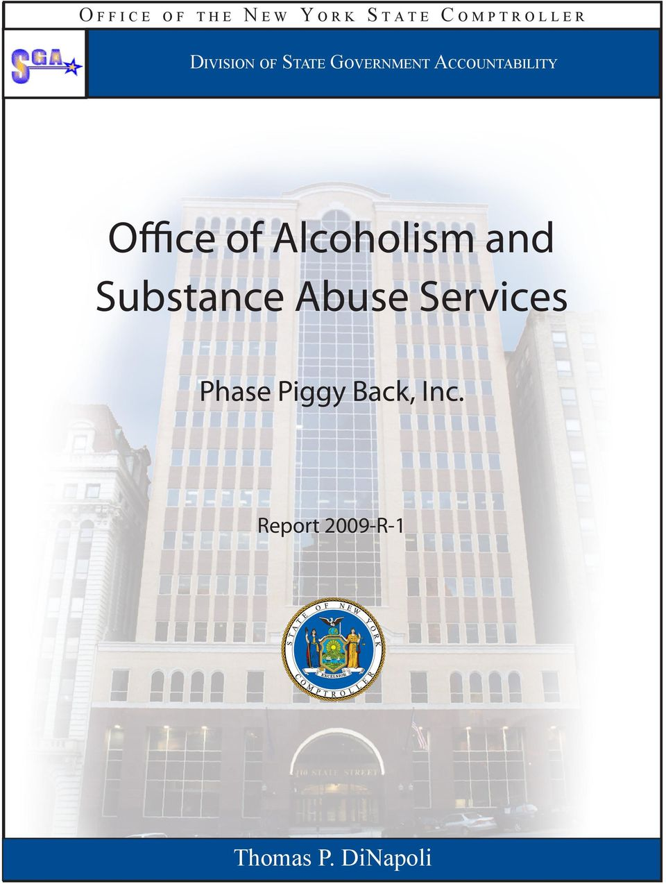 Accountability Office of Alcoholism and Substance