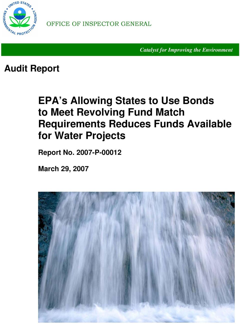 Bonds to Meet Revolving Fund Match Requirements Reduces