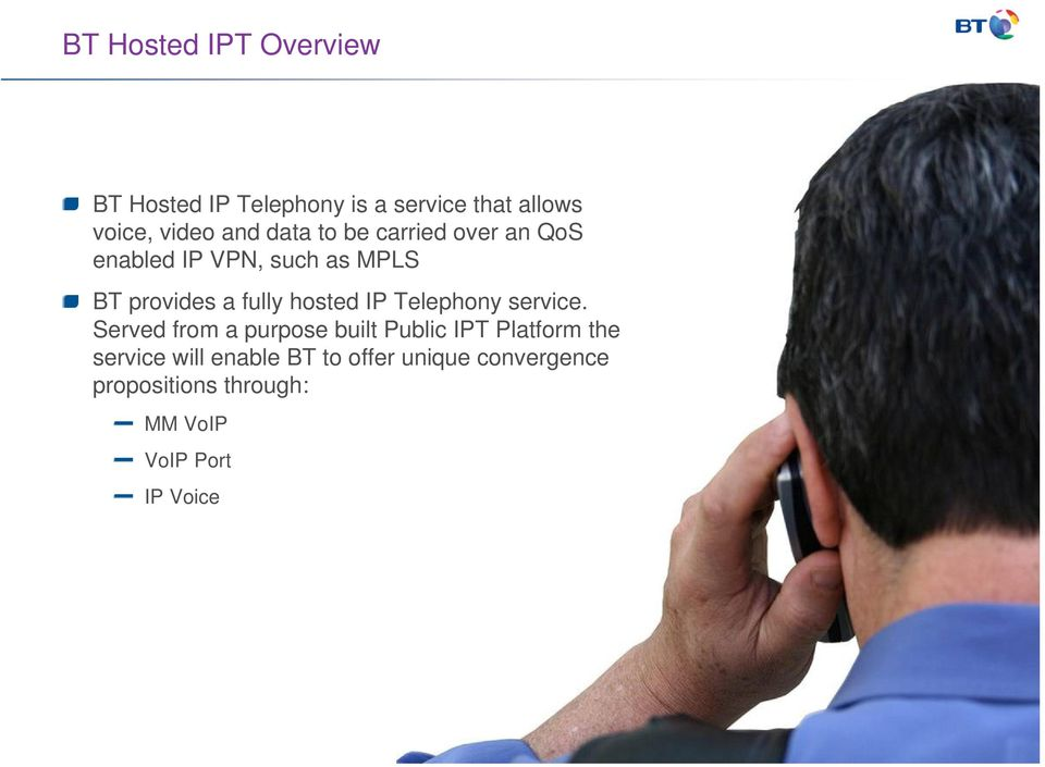 hosted IP Telephony service.