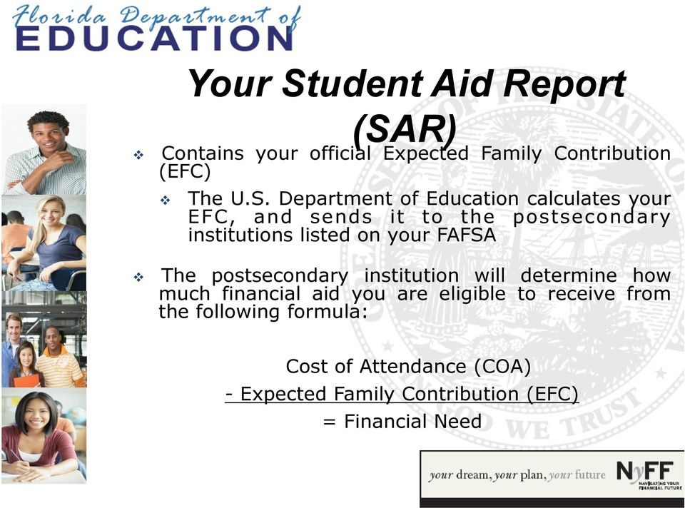 R) Contains your official Expected Family Contribution (EFC) The U.S.