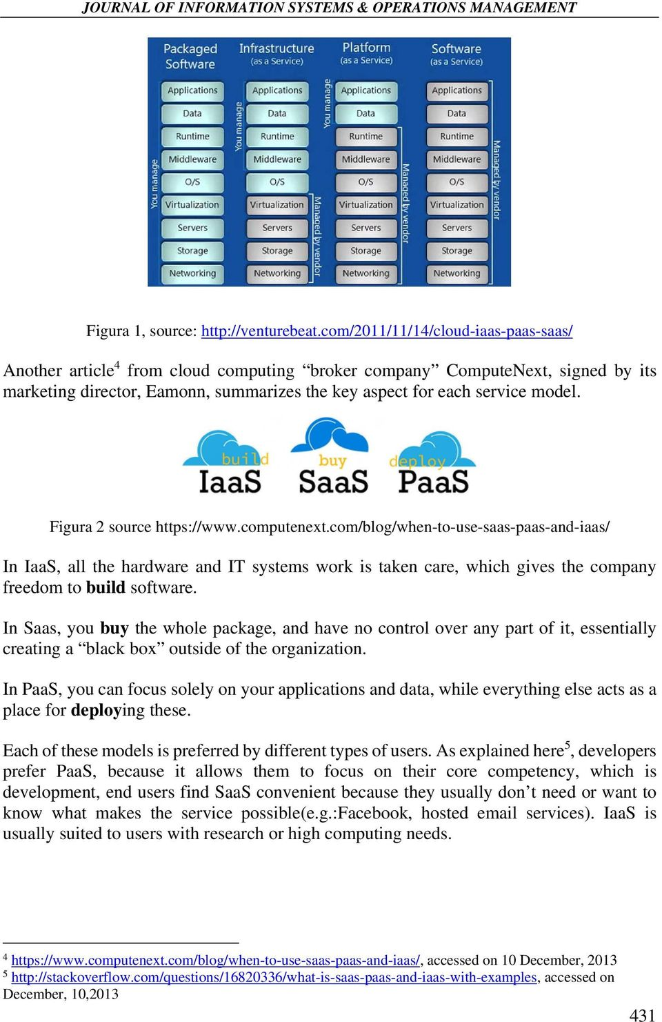 Figura 2 source https://www.computenext.com/blog/when-to-use-saas-paas-and-iaas/ In, all the hardware and IT systems work is taken care, which gives the company freedom to build software.