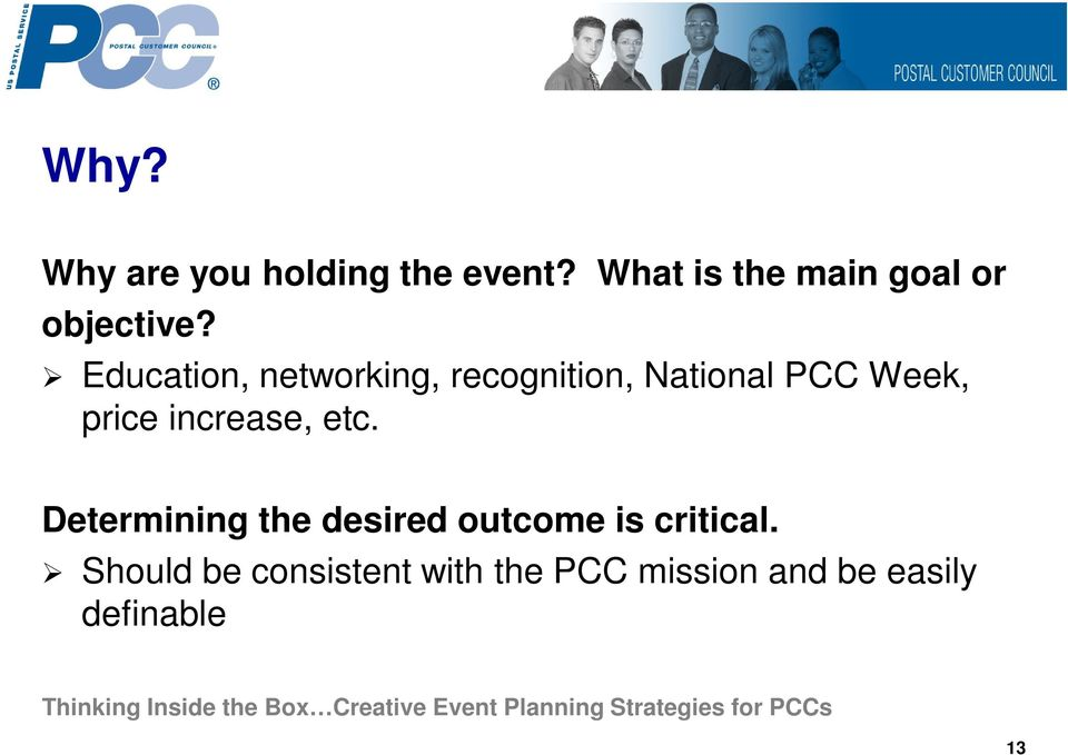 Education, networking, recognition, National PCC Week, price