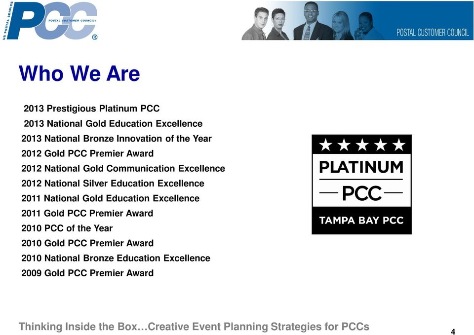 National Silver Education Excellence 2011 National Gold Education Excellence 2011 Gold PCC Premier Award