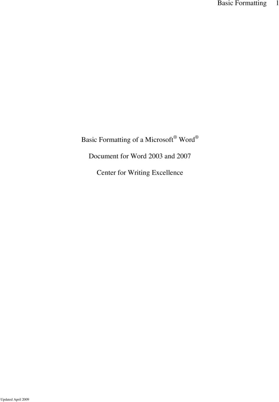 Document for Word 2003 and 2007