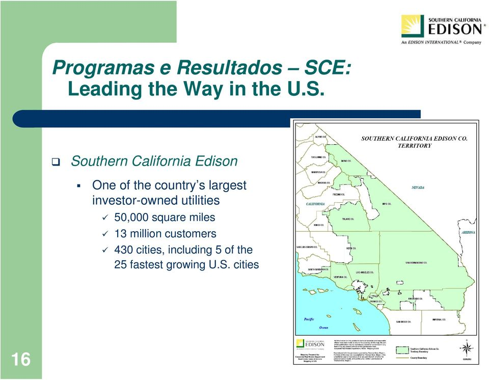 Southern California Edison One of the country s largest