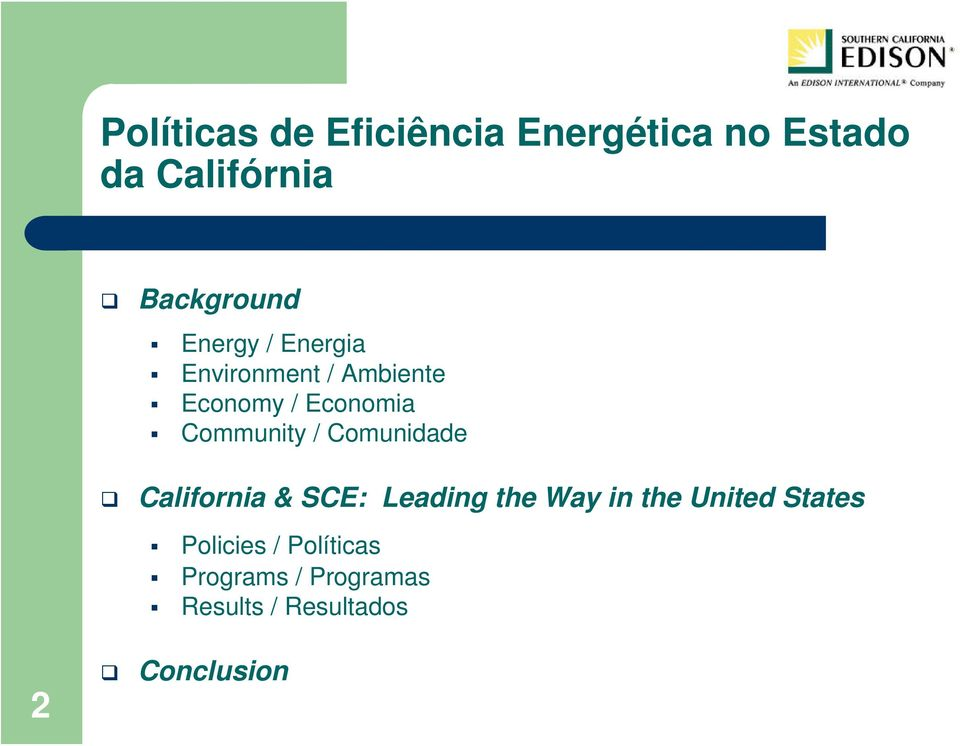 Comunidade California & SCE: Leading the Way in the United States 2