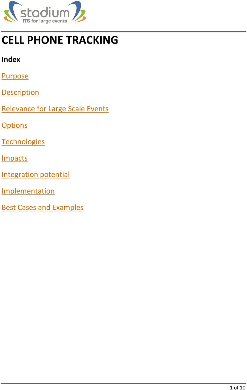 Events Options Technologies Impacts