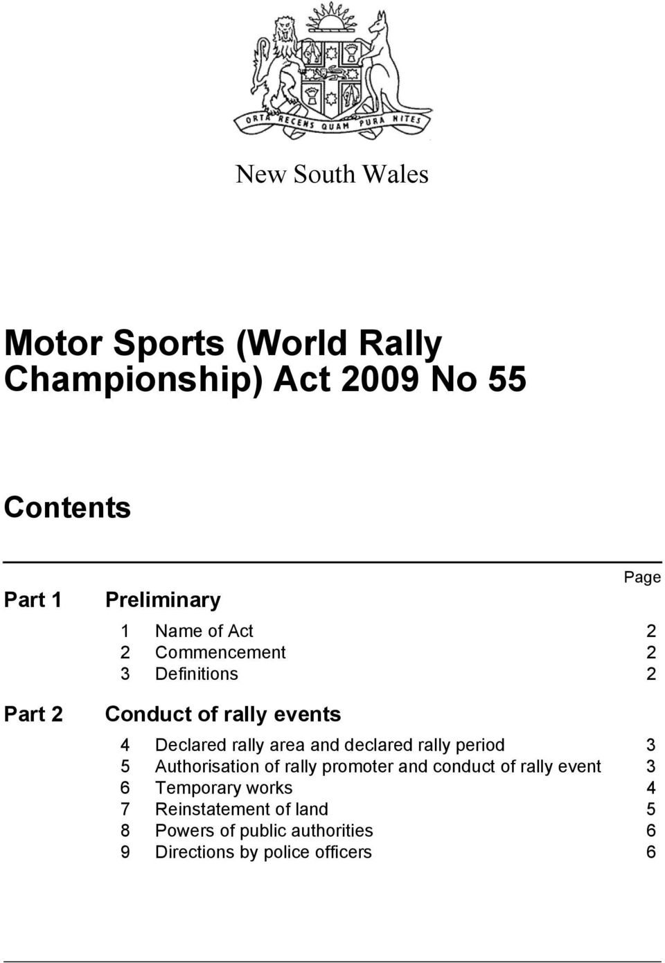 rally area and declared rally period 3 5 Authorisation of rally promoter and conduct of rally event 3