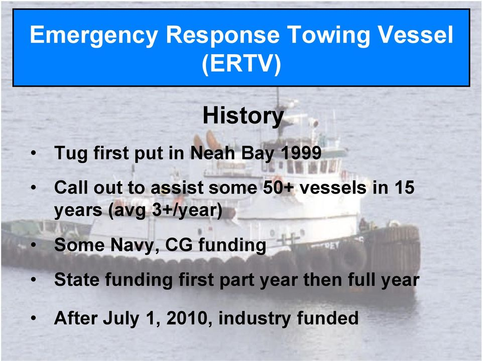 Call out to assist some 50+ vessels in 15 years (avg 3+/year)!