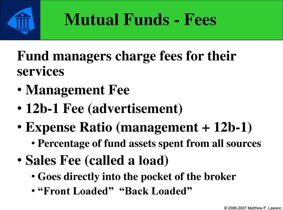 12b-1) Percentage of fund assets spent from all sources Sales Fee