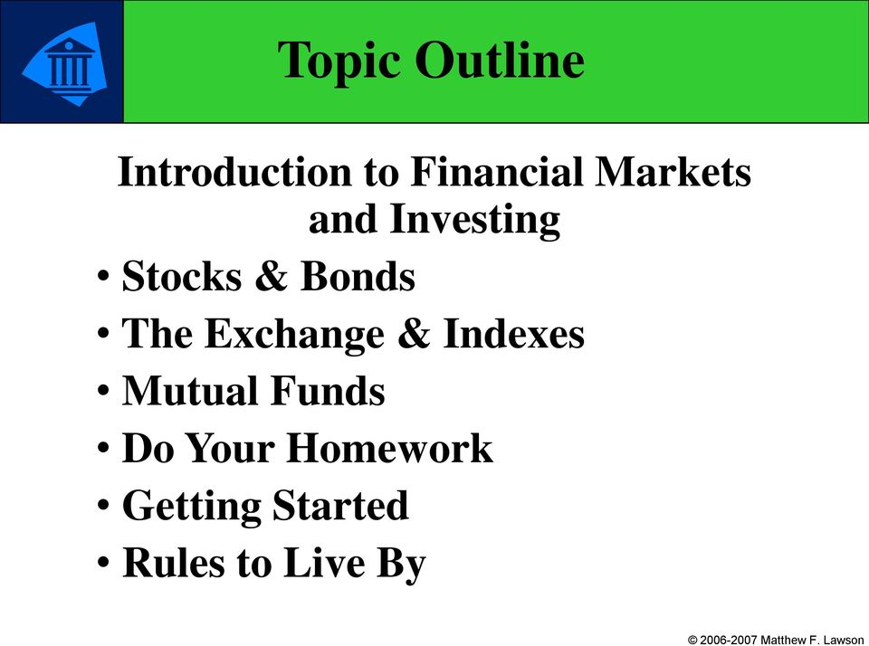 Exchange & Indexes Mutual Funds Do Your