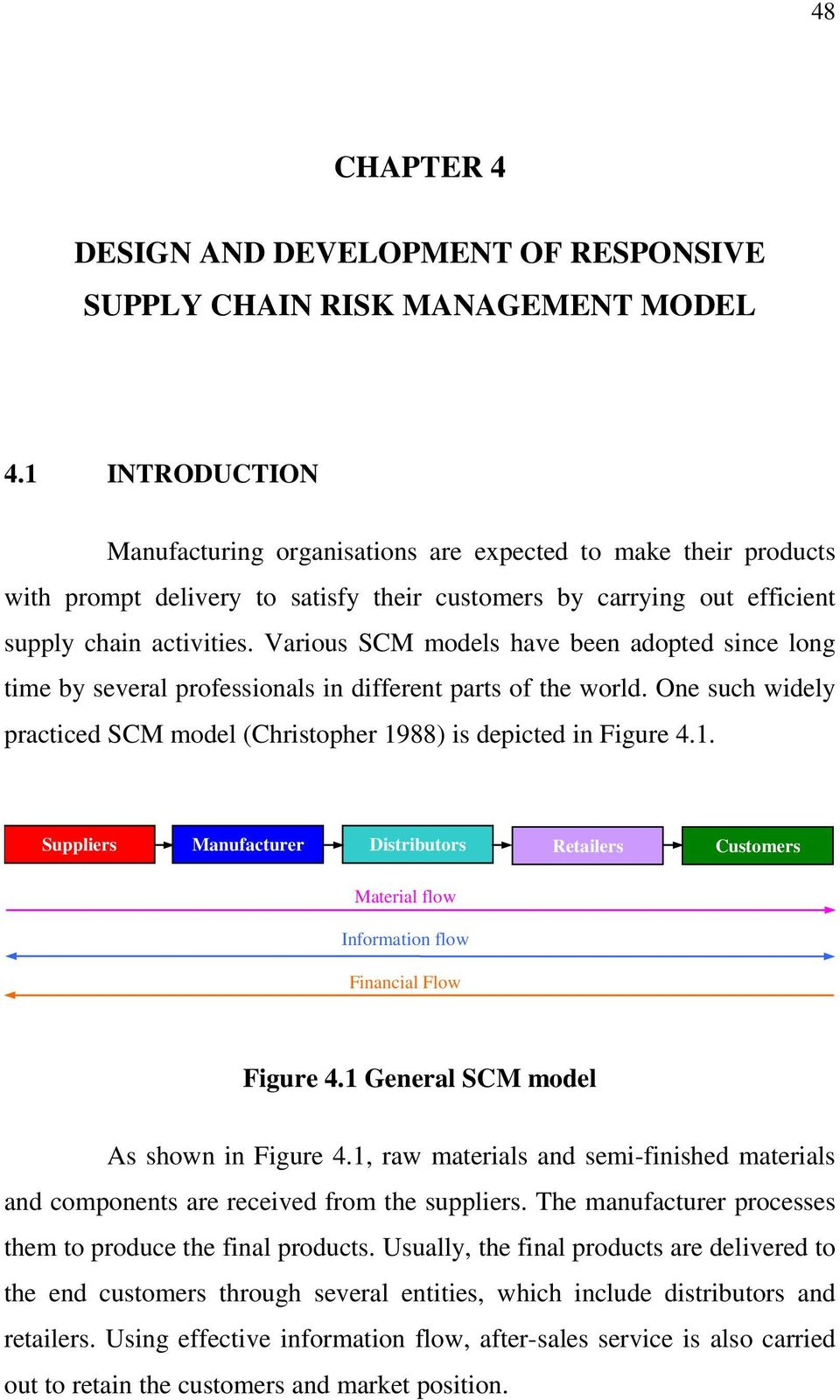 Various SCM models have been adopted since long time by several professionals in different parts of the world. One such widely practiced SCM model (Christopher 19