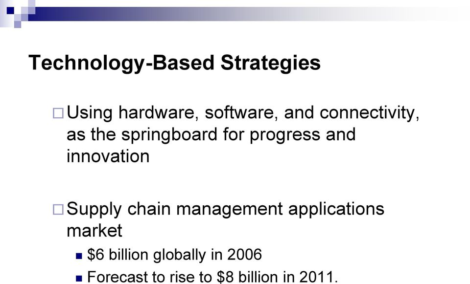innovation Supply chain management applications market $6