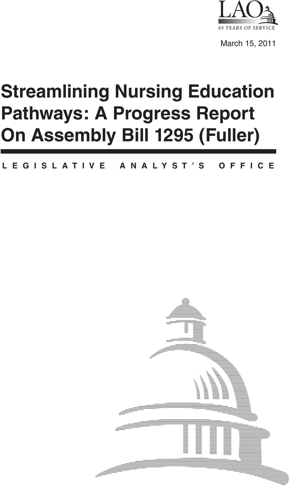 On Assembly Bill 1295 (Fuller) L E G I