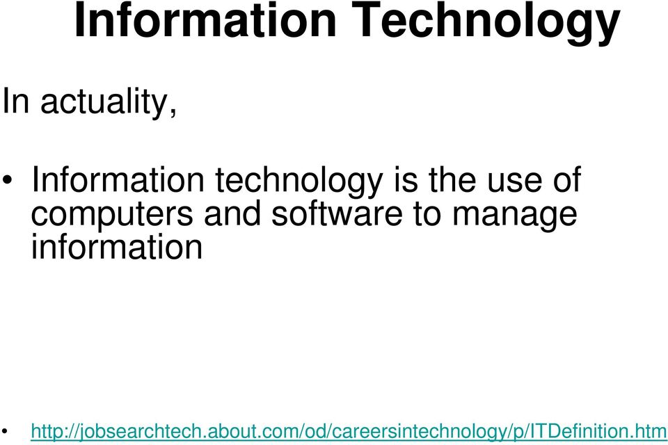 and software to manage information