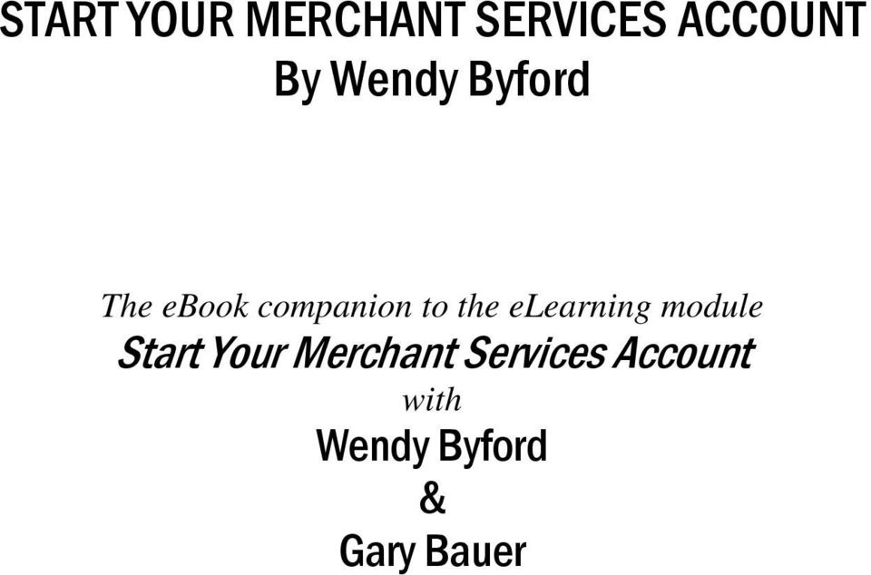 elearning module Start Your Merchant