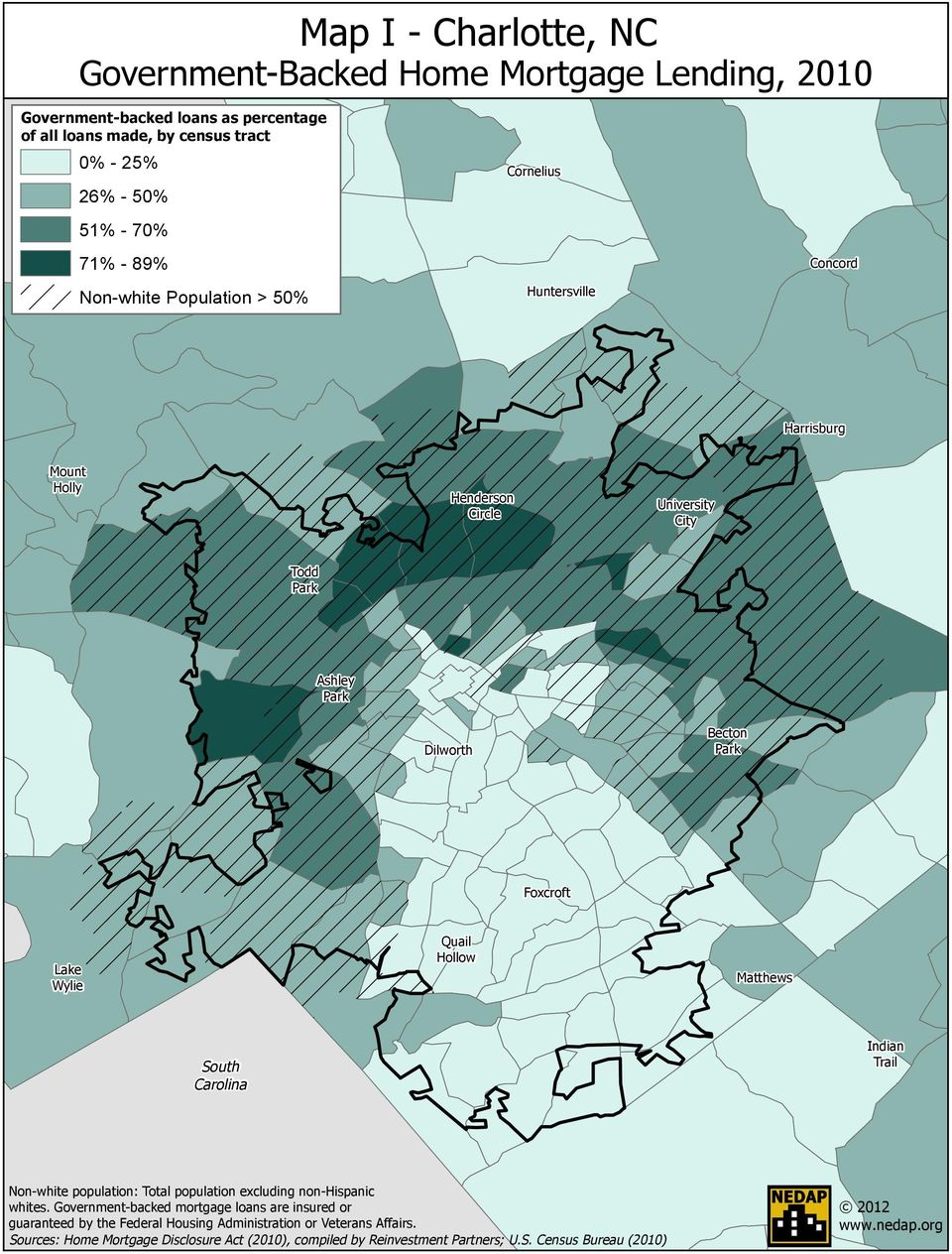 Quail Hollow Matthews South Carolina Indian Trail Non-white population: Total population excluding non-hispanic whites.