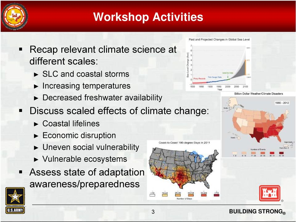scaled effects of climate change: Coastal lifelines Economic disruption Uneven