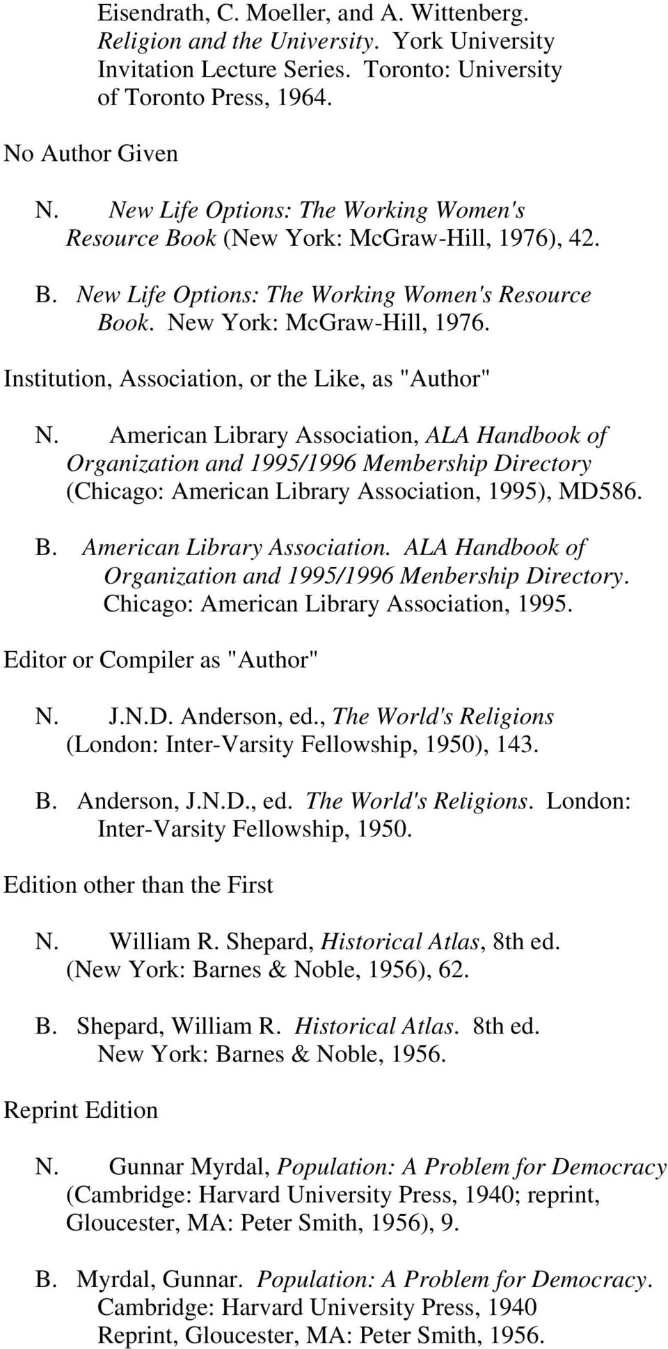 "Institution, Association, or the Like, as ""Author"" N."