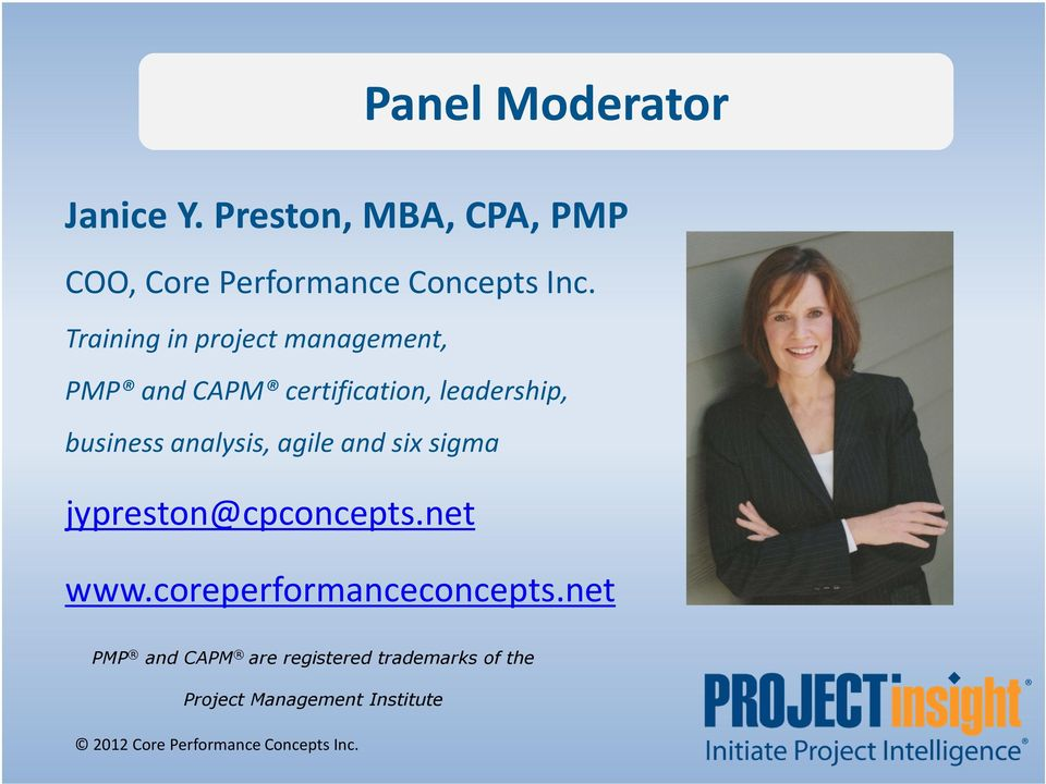 Training in project management, PMP and CAPM certification, leadership, business