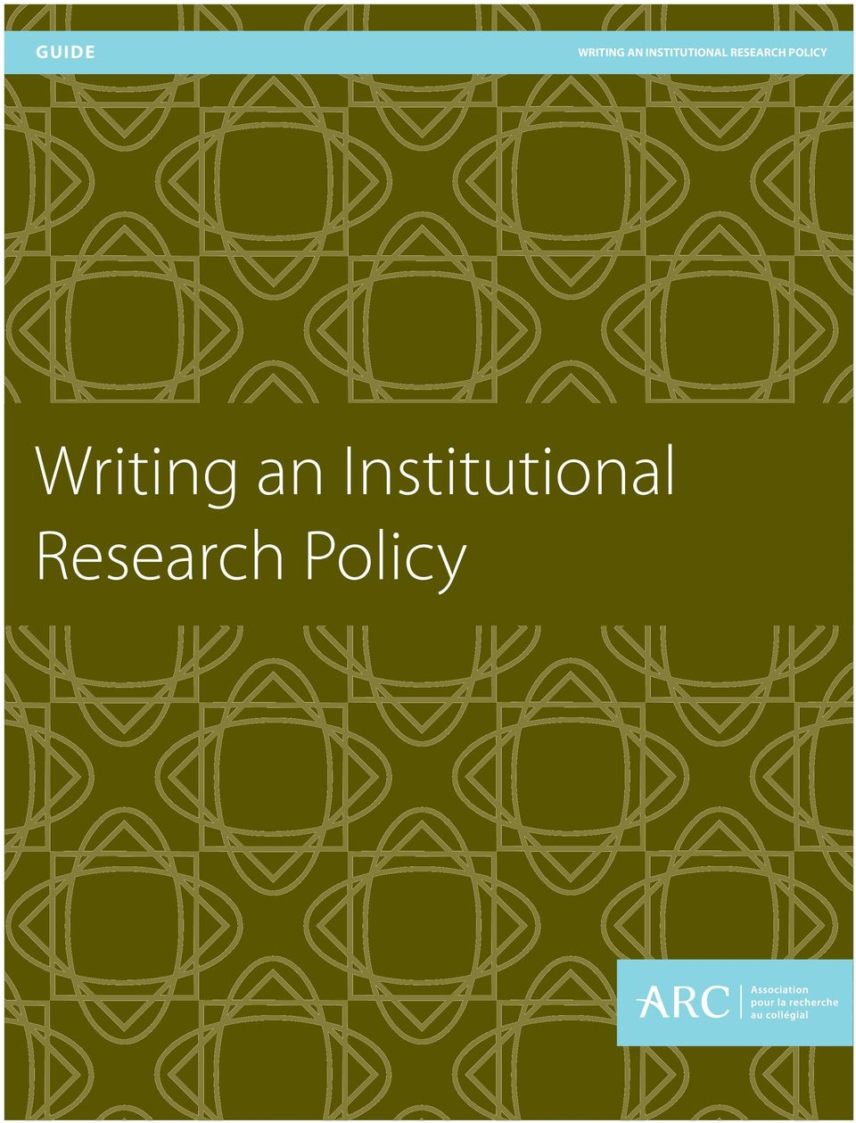 Institutional Research Policy