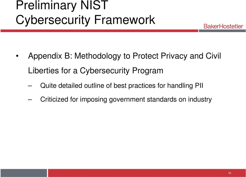 Cybersecurity Program Quite detailed outline of best practices