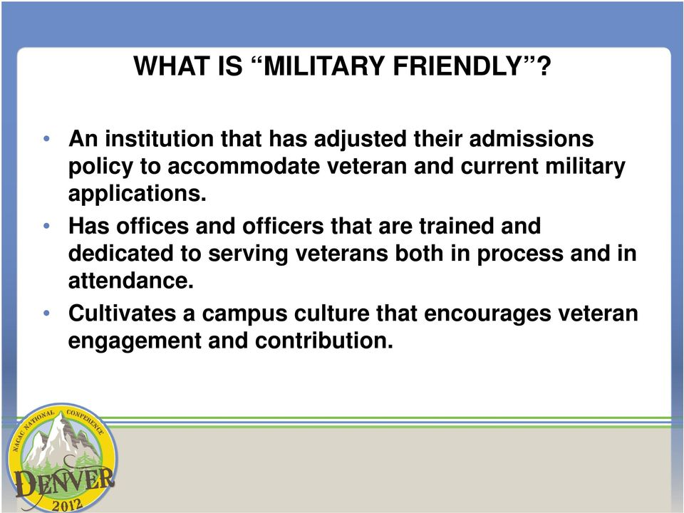 current military applications.