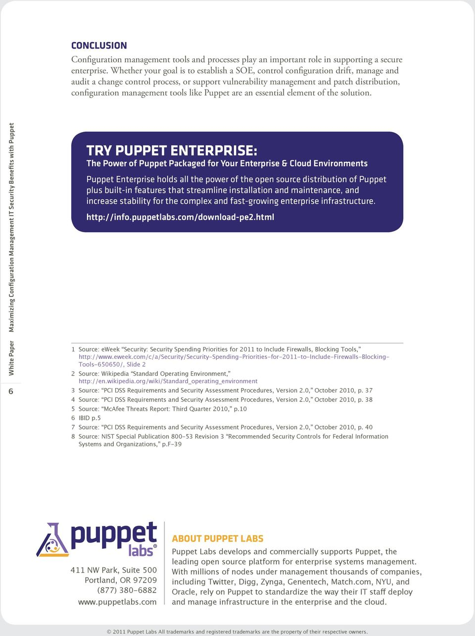 tools like Puppet are an essential element of the solution.