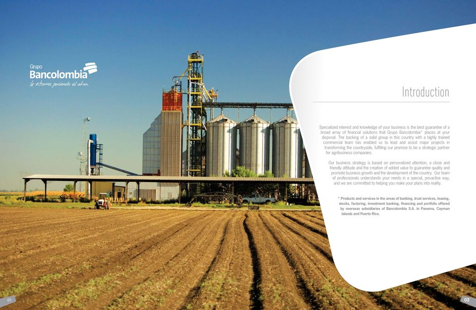 strategic partner for agribusiness companies.