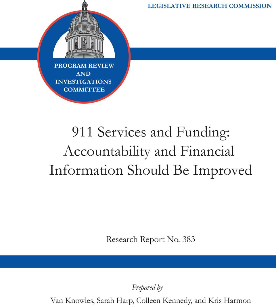 Accountability and Financial Information Should Be Improved