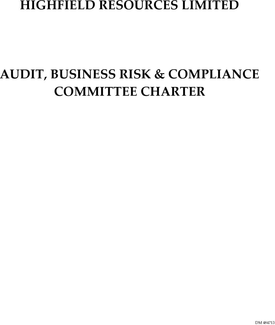 BUSINESS RISK &