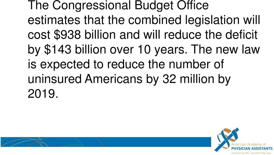 deficit by $143 billion over 10 years.