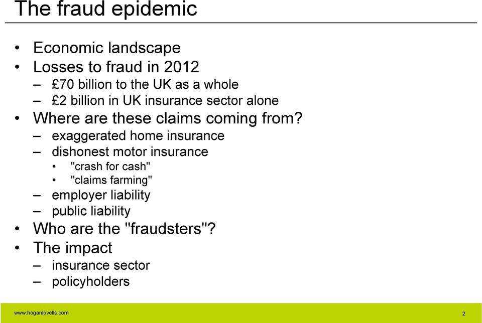 "exaggerated home insurance dishonest motor insurance ""crash for cash"" ""claims farming"""