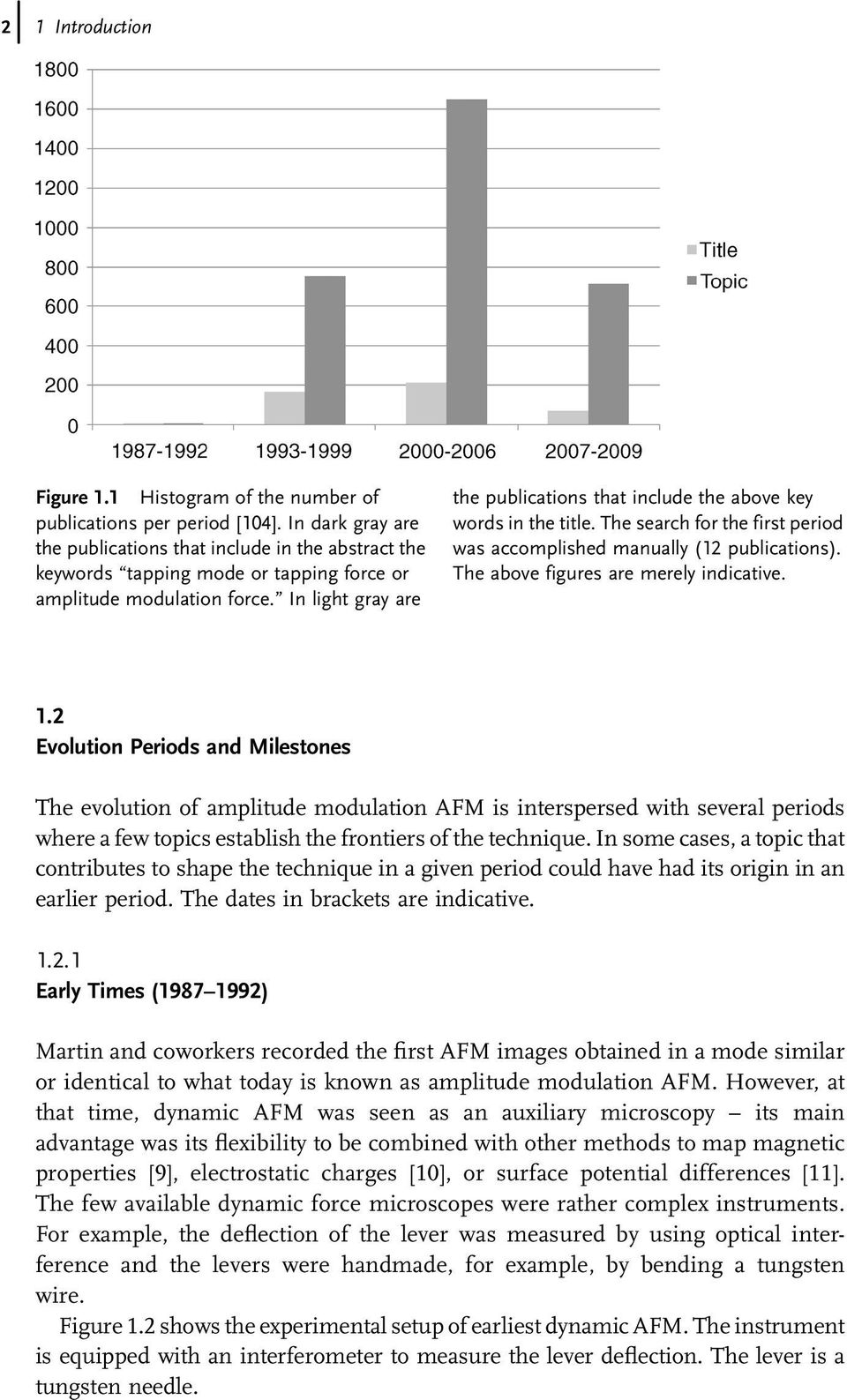 In light gray are the publications that include the above key words in the title. The search for the first period was accomplished manually (12 publications). The above figures are merely indicative.