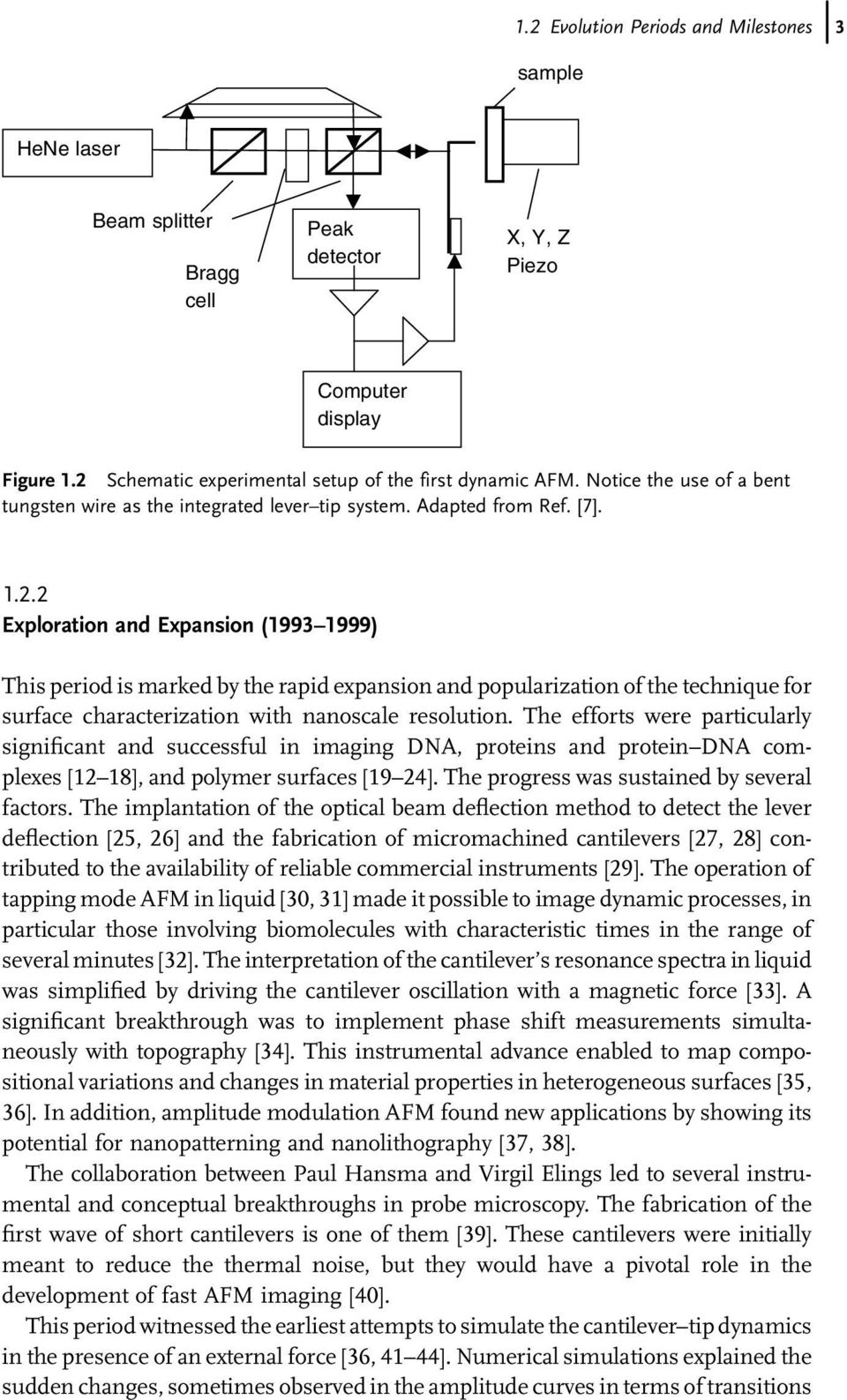 2 Exploration and Expansion (1993 1999) This period is marked by the rapid expansion and popularization of the technique for surface characterization with nanoscale resolution.