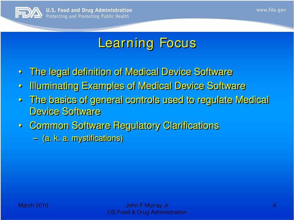general controls used to regulate Medical Device Software